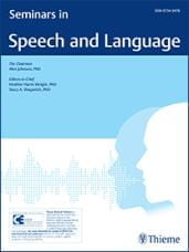 Cover of Seminars in Speech in Language
